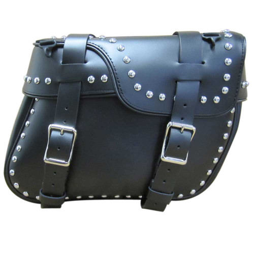 Studded Deluxe Split Lid Saddlebag