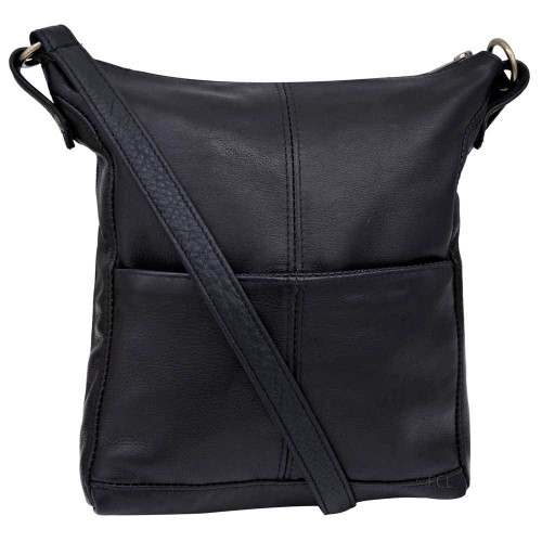 Melinda Purse, Black Cowhide Leather - Clearance #94