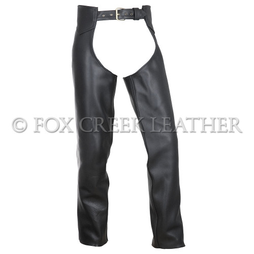 Leather Motorcycle Chaps - Size Large/Medium Long (Clearance #44)