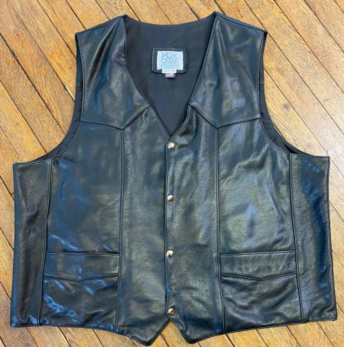 Men's Classic Motorcycle Vest, Size 60L (Clearance #48)
