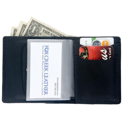Small Bi-Fold Leather Wallet