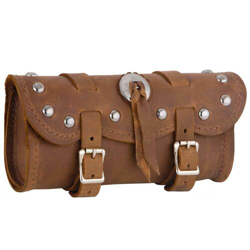 Small Brown Studded Concho Tool Bag
