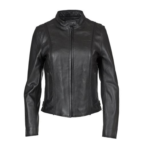Women's Braided Leather Jacket