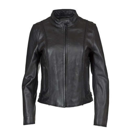 Women's Braided Leather Jacket