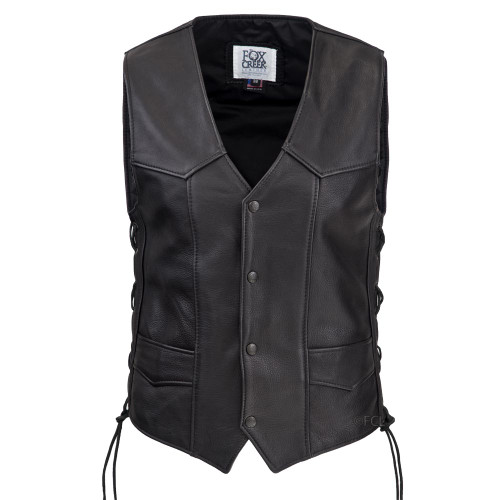 Men's Laced Classic Motorcycle Vest