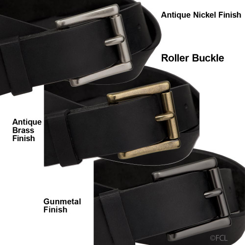 Fox Creek Leather Black Belt