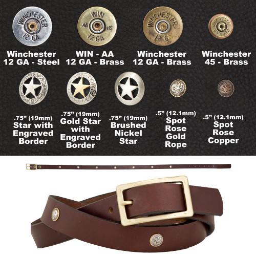 "1"" FCL Fancy Concho Belt"