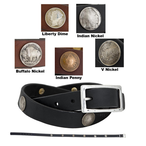 """1"""" FCL Coin Concho Belt"""