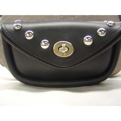 Studded Leather Handlebar Bag