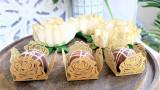 Gold Rose Design Laser - Cut Truffle or Brigadeiro Wrapper. Forminhas para doces.