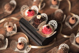 Heart Laser cut Truffle holder. Forminhas para doces laser.