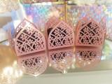 Vienna Pink 4 Petal - Laser Cut Truffle or Brigadeiro Wrapper. Forminha para doces.
