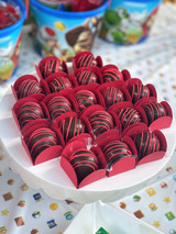 Chocolate Truffle Mini Box Holder.  Sweet Liners. Caixeta para doces 4 Petalas