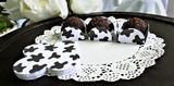 Country Farm Cow Marks Chocolate Truffle Wrapper. Forminha para Doces (Caixeta)