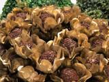 Rosie Gold Flower Truffle Wrapper