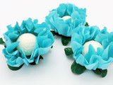 San German Chocolate Truffle Flower Wrapper. Forminha para Doces San German