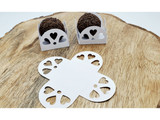 Big Hearts White Laser Cut Chocolate Truffle Holder. Caixeta Laser Branca com Coracoes.