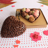 Chocolate Heart Mold 500g Shell. Forma Coracao liso - Casca 500g