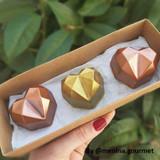 Heart Diamond Truffle Mold 3D - 4-Piece Shell. Forma Coracao Diamante Trufa.