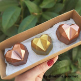 Diamond Heart Truffle Mold 3 Part Mold - 4-Piece Shell. Forma Coracao Diamante Trufa.