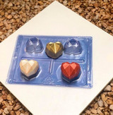 Heart Diamond Truffle Mold 3D - 4-Piece Shell. Forma Coracao Diamante Trufa.