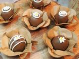 Kraft Chocolate Truffle Flower Wrapper. Forminha rustica de Kraft.