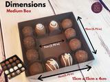16 Chocolate Truffles gift box, Chocolates, Brownies,  Sweets Gift Boxes. Embalagem para Brownies, Pao de Mel e Bombon.