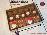 10 Chocolate Truffles, Brownies, Sweets Gift Boxes. Embalagem para Brownies e Bombon.