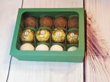 Chocolate Truffles Window Box - 12 Pieces. Caixa ou Embalagem para doces.