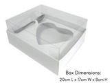 Chocolate Diamond Heart Gift Box for 500g Shell. Caixa de Colher de Coracao 500g.