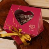 Diamond Heart Gift Box for 500g Chocolate Heart Shell. Caixa Diamante de Coracao