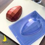 Square Texture Geometric Egg 350g Size. Ovo Geometrico de Textura quadrada.