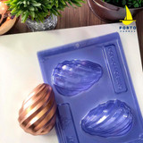 3 Part Spiral Easter Egg Mold. 200g Chocolate Size.