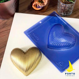 Stripped Heart (single shell 350g) 3 part Mold