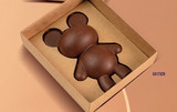 Large Bear Kraft Gift Box with clear visor. Adaptable with the large Bear, 3 Part Mold.