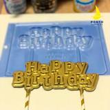 Happy Birthday Cake Topper - Chocolate Mold.