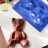 Geometric Large Bear 3 part Mold