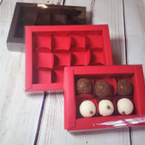 Chocolate Truffle Gift Box 6 or 12 piece.  Embalagem para 6 ou 12 Doces.