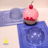 Giant Cupcake and 100mm Geometric Sphere 3 Part Molds