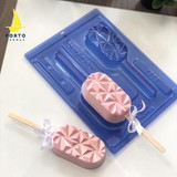 Geometric Cakesicle, Lollipop Chocolate Mold. Porto Formas