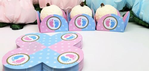 Baby Gender Reveal Truffle Holder. Caixeta para Doces, para Cha de Revelacao.