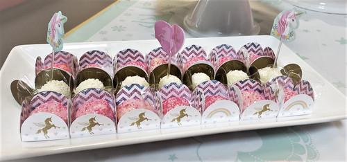 Unicorn Chocolate Truffle Holder. Forminha Caixeta para doces.