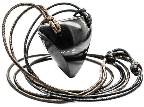 Shungite Pendant Necklaces Arrowhead www.keled.rocks