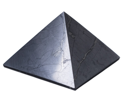 Shungite Pyramid Polished Natural Shungites Stone