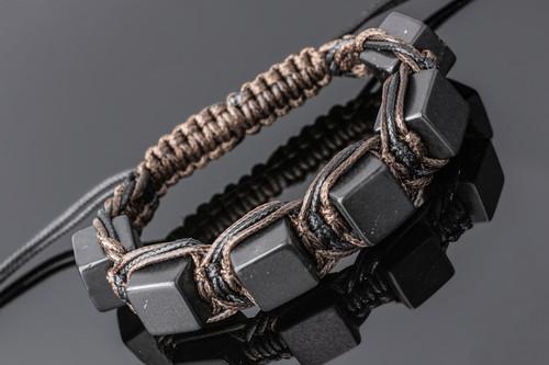 Shungite Bracelet Square Beads