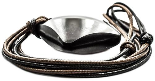 Shungite Pendant Necklaces Rhombus