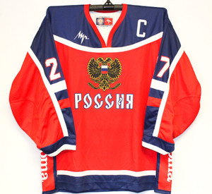 Russian National Team AUTOGRAPHED Pro Hockey Jersey KOVALEV #27
