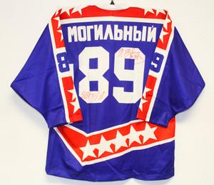 Russian National Team SIGNED Vintage Pro Hockey Jersey MOGILNY #89