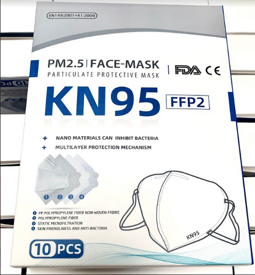 Pack of 10pcs KN-95 Protective Mask FDA and CE Approved