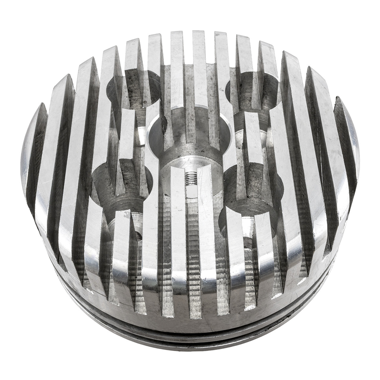 High Performance Silver CNC Aluminum Cylinder Head For 60cc